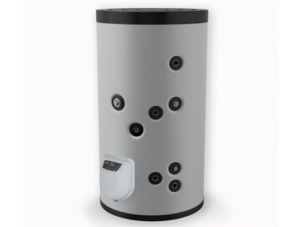 Бойлер ЕЛДОМ стоящ 200 л, 3 kW, една серпентина, електронно управление, неръждаем